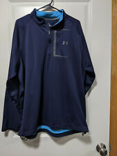 Under Armour Cold Gear 1/4 Zip Pullover Loose Navy Blue 2Xl