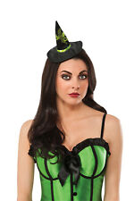 Wizard Of Oz Wicked Witch Of The West Black Green Costume Mini Hat