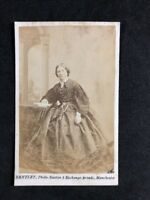 Victorian Carte De Visite CDV: Lady: Bentley: Manchester: Large Hoop Dress