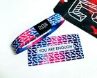 ZOX **YOU ARE ENOUGH** Silver Single med Wristband w/Card New Mystery Pack