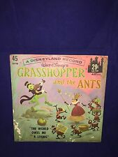 Vintage Disneyland* Grass Hopper & The Ants Record*Walt-Disney*Rare*1 960'S