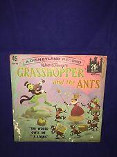 Vintage DISNEYLAND* GRASS HOPPER & THE ANTS RECORD*WALT-DISNEY*RARE*1960'S