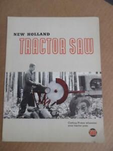 1950 New Holland Machine Company Tractor Saw Brochure Vintage Original