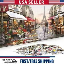 1000 Piece Puzzle Jigsaw Paris Flower Street Adults Kids Learning Education Toy