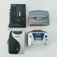 Sony Aiwa Walkman Cassette Player Repair Lot 4 AM/FM Radio Voice VOR For PARTS