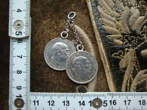 Charivari Münzanhänger Silber 1 österreichische Krone Kaiser Franz Josef