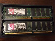 Kingston  KVR400X64C3AK2/1G   2x512MB Kit PC3200 400Mhz Non-ECC DDR Desktop Memo
