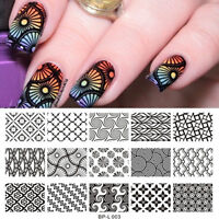 Nail Art Stamping Template Large Designs Image Stamp Plate BORN PRETTY L003