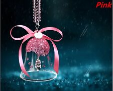 Pink Crystal Wind chimes Car Mirror Pendant Jewelry Decor Hanging Ornament