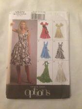 Vogue Options Sewing Patterns V8470 Misses' Dress Halter Lined Uncut 8-16