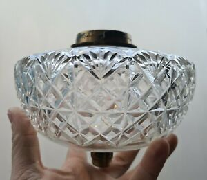 Original Messenger Deep Cut Glass Oil Lamp font