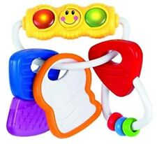 Baby water filled sensory rattle ring activity keys toy with flashing lights plu