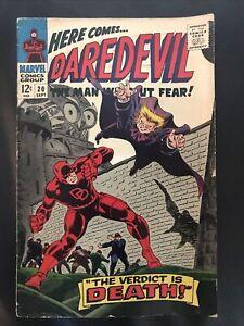 DAREDEVIL # 20  vs THE OWL - THE VERDICT IS DEATH Marvel Comics Sept 1966 VF