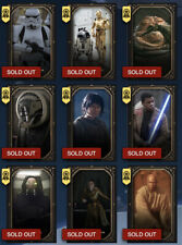 Star Wars Card Trader Lot Of 9 Epic Gilded Galaxy Award Cards