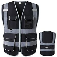 Lohaswork Reflective Mesh Safety Vest High Visibility Multi Pockets Breathable
