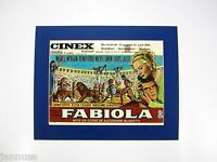 alter Kino Reklame Druck hinter Passepartout Fabiola 1949 Italy 50x40cm 337