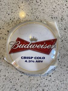 Budweiser Round Beer Tap Badge