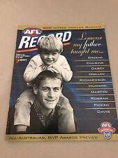 AFL 2001 Football Record Essendon V Richmond Round 22