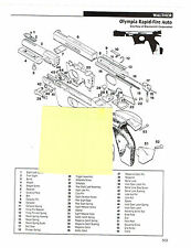Walther Olympia Rapid-Fire Auto, P-38 Auto Pistol Exploded View Parts 2011 Ad