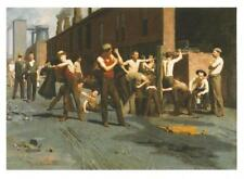 Postcard Thomas Pollock Anshutz Ironworkers' Noontime Fine Arts Museums SF MNT