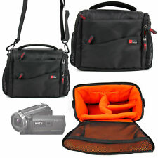 Case / Bag in Black & Orange for Sony HDR-PJ620 / HDR-PJ410 / HDR-CX405 Handycam