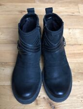 EARTH LAUREL BLACK ANKLE BOOTS SIZE 6 B