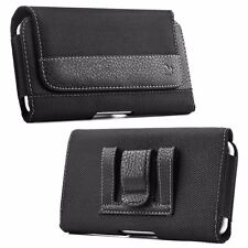 Premium Leatherette with Cross Stitch Nylon Canvas Pouch Holster For H