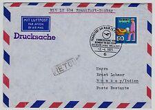 Flugpost - Luftpost BRD Mi. - Nr. 633 Einbeziehung von Bombay