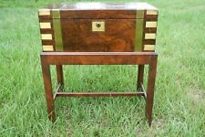 Vintage Victorian Walnut and brass portable writing slope lap desk