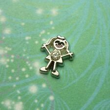 Girl Charm For Locket- Silver
