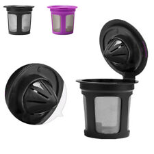 NEW Reusable Stainless Mesh Single Cup Keurig Solo Coffee Filter Pod K-Cup black