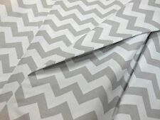 Curtain Fabric Chevron Zig Zag 100 Cotton Fabric Material by The Metre Gray 3m Continuous Length