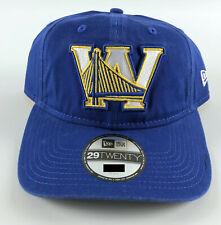 Golden State Warriors Baseball Hat New Era 29Twenty Blue W Bridge - Medium