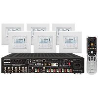 Russound KT2-66 multi-zone kit includes MCA66 amplifier and 6 MDKC6 keypads