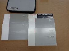 2004 Nissan Altima Owners Owner's Manual Guide Books Literature Complete Set