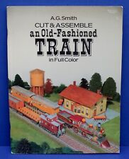 "Cut & Assemble card Model Old Fashioned Train 44"" Long  AG Smith 1987"
