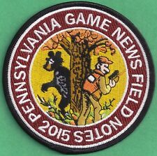 """Pa Pennsylvania Game Commission NEW 4"""" 2015 Pa Game News / Field Notes Patch"""