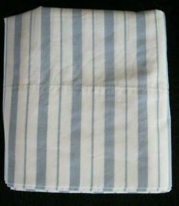 Set/2 Vtg Wamsutta Supercale Plus Blue/White Stripe Standard Pillowcases