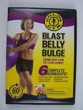 Gold's Gym Blast Belly Bulge DVD 6 Complete Workouts