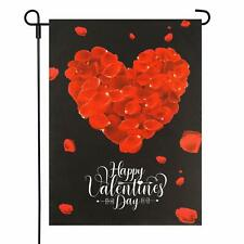 13x18 inch Valentines Day Garden Flags Decoration Red Heart Double Sided Burlap