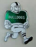 Vintage Large Tazewell Virginia VA Bulldogs High School Plastic Pin/Brooch
