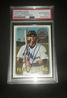 Isaac Paredes Signed Auto 2018 Topps Heritage #73 PSA/DNA