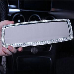 Universal Sedan Car Rearview Mirror Bling Rhinestone Decorative Accessories 1x