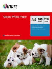 A4 260Gsm High Glossy Photo Paper Inkjet Photography Paper - 100 Sheets Uinkit
