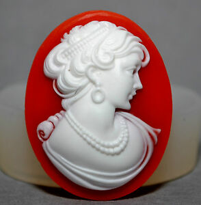 LADY CAMEO SILICONE MOLD sugarcraft food use resin polymer clay fimo soap mould