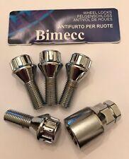 M12X1.5 LOCKING BOLTS 26mm THREAD BIMECC  ALLOY WHEELS 60 DEGREE FOR BMW 72.6 2