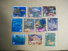 USA Used, 2004 Issue, 37 Cents Pacific Coral Reef. Scott #3831a-j.