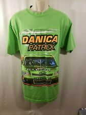 OFFICIAL NASCAR DANICA PATRICK MENS SHORT SLEEVE T SHIRT SIZE L LIME GREEN