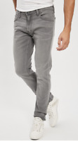 Mens Lee Luke slim tapered fit jeans 'Light grey' FACTORY SECONDS  L96