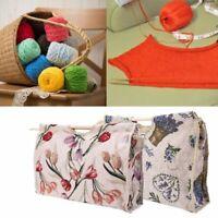 Storage Bag Wood Handle Handle Knitting Bag Yarn Knitting Needles Sewing Tool